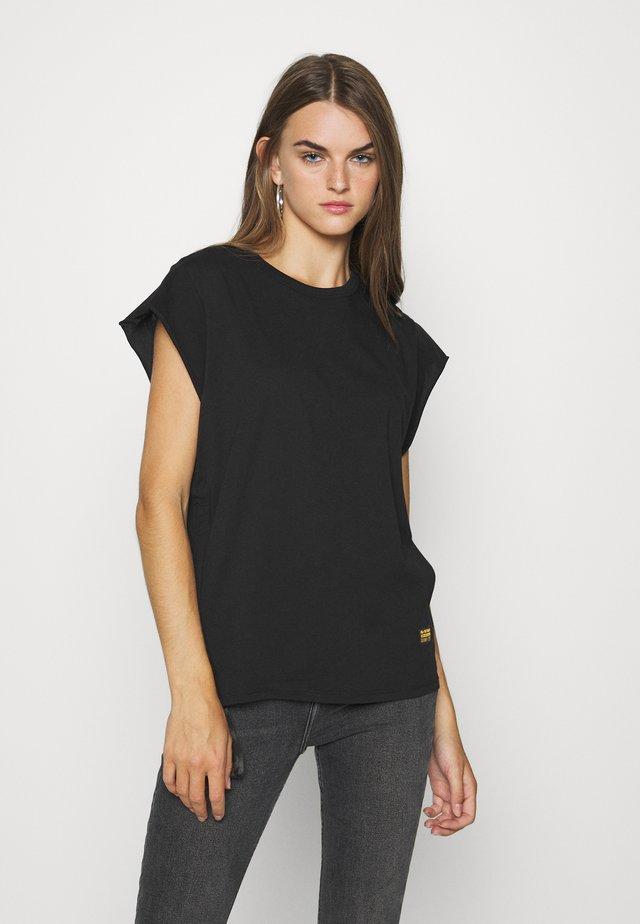 GSRAW GYRE KNOT R T WMN CAP SL - T-shirt con stampa - black