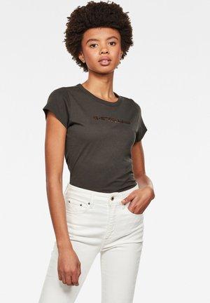EYBEN GRAW FOIL - Basic T-shirt - asfalt