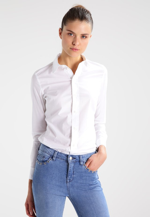 CORE SLIM - Button-down blouse - white