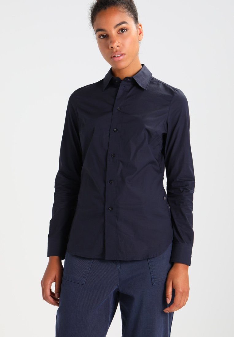 G-Star - CORE 3D SLIM SHIRT  L/S - Button-down blouse - mazarine blue