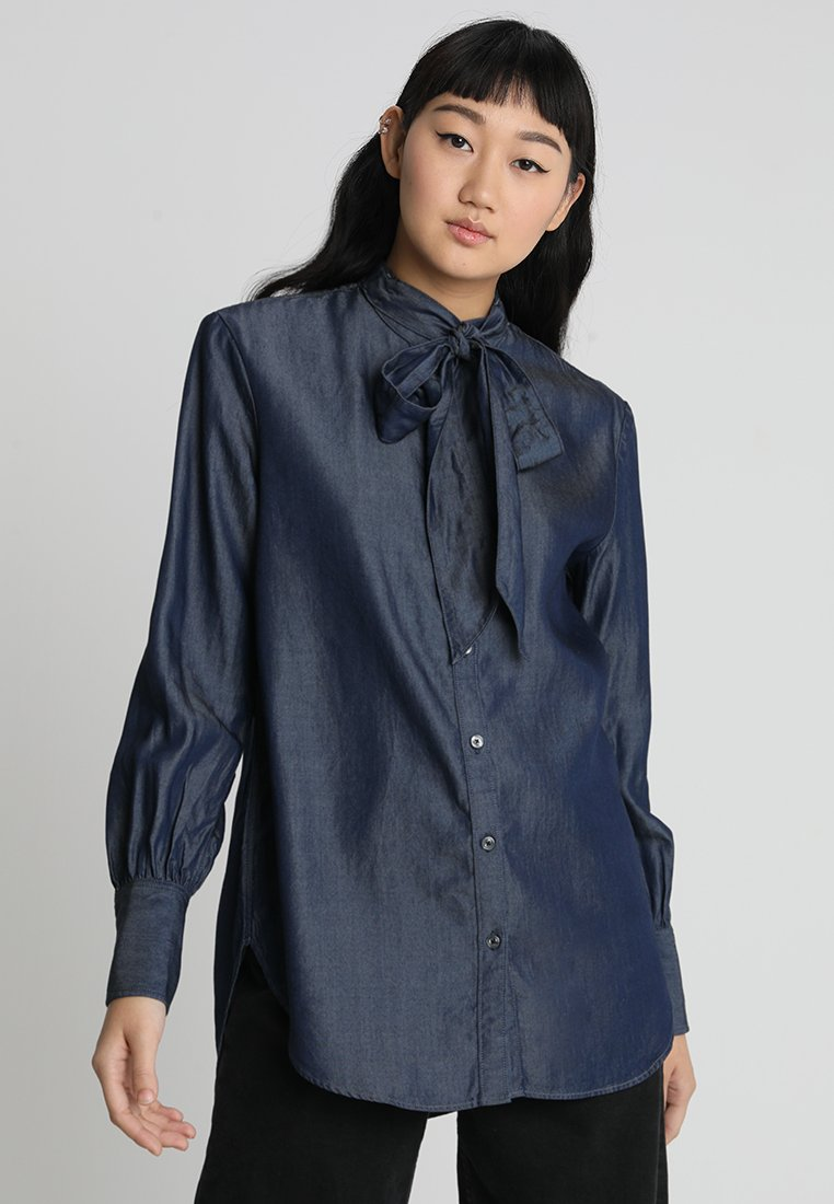G-Star - DELINE BF BOW BLOUSE WMN L\S - Bluse - rinsed
