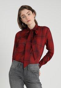G-Star - DELINE BOYFRIEND BOW - Skjorte - red - 0