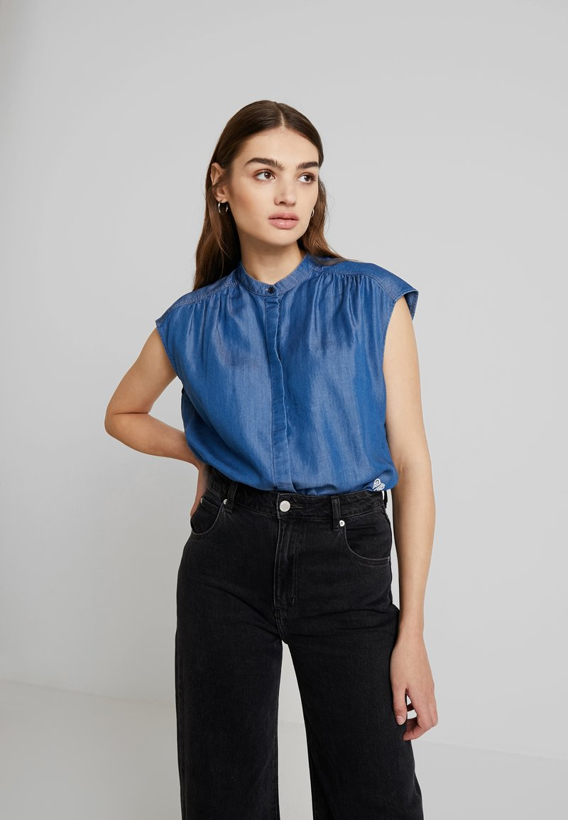G-Star - PARGE SHIRT WMN S\S - Bluse - rinsed