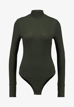 TRACTION SLIM BODY FUNNEL WMN L\S - Top sdlouhým rukávem - dark green