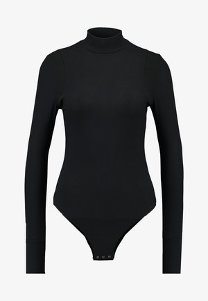 TRACTION SLIM BODY FUNNEL WMN L\S - Långärmad tröja - dark black