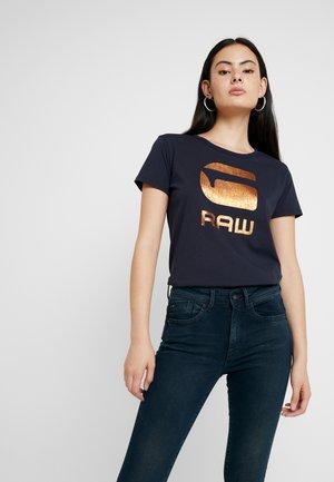 GRAPHIC 21 R T WMN S/S - Camiseta estampada - mazarine blue