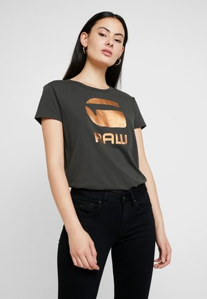 GRAPHIC LOGO - Print T-shirt - asfalt