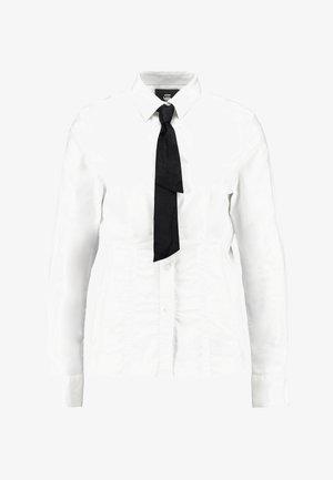 SYENITE SLIM BOW SHIRT WMN L\S - Koszula - white