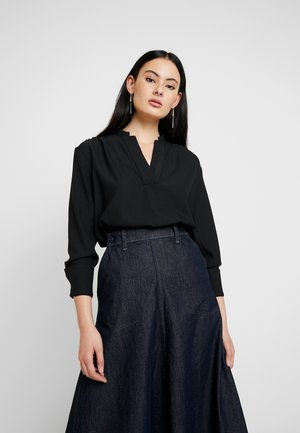 OGEE V-NECK STRAIGHT SHIRT WMN L\S - Bluser - dark black