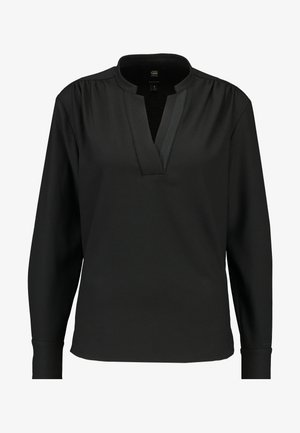 OGEE V-NECK STRAIGHT SHIRT WMN L\S - Blůza - dark black