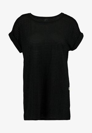 LUGE - Jednoduché triko - black