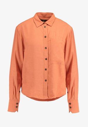 CORE STRAIGHT SHIRT - Button-down blouse - dusty royal orange