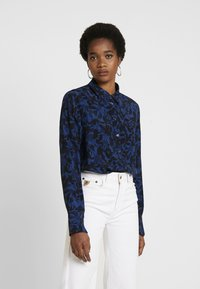 G-Star - CORE STRAIGHT SHIRT - Button-down blouse - pacific - 0