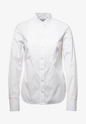 LANC BIB SLIM - Button-down blouse - white