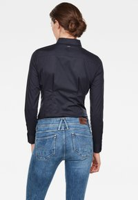 G-Star - SYENITE SLIM BOW - Overhemdblouse - mazarine blue - 1