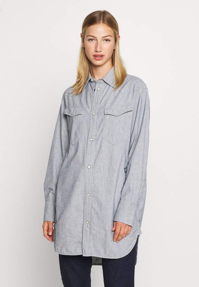 TACOMA  - Button-down blouse - sun faded indigo stripe