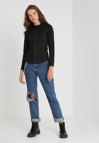 G-Star - LYNN LUNAR SLIM - Blouse - lt wt slander stay black ss - 1