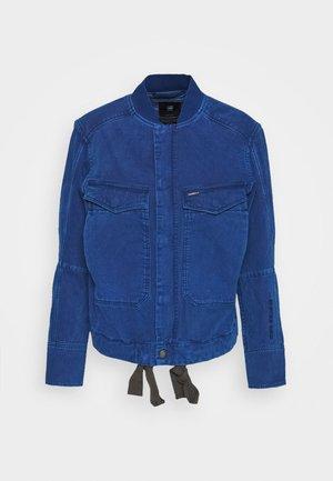 UTILITY BOMBER WMN - Džínová bunda - deep true blue