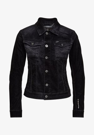 ARC SLIM DNM JKT WMN BLACK ICED FLOCK WOMEN - Denim jacket - black iced flock
