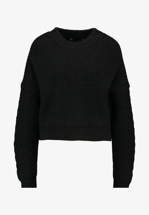 WEET R KNIT WMN L\S - Sweter - dk black