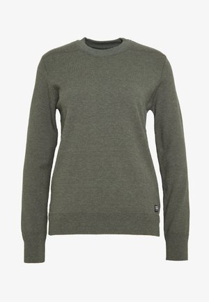 KNIT R-NECK LONG SLEEVE - Svetr - dusty green