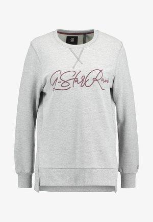 GRAPHIC BOYFRIEND SLIT - Sweatshirt - grey heather