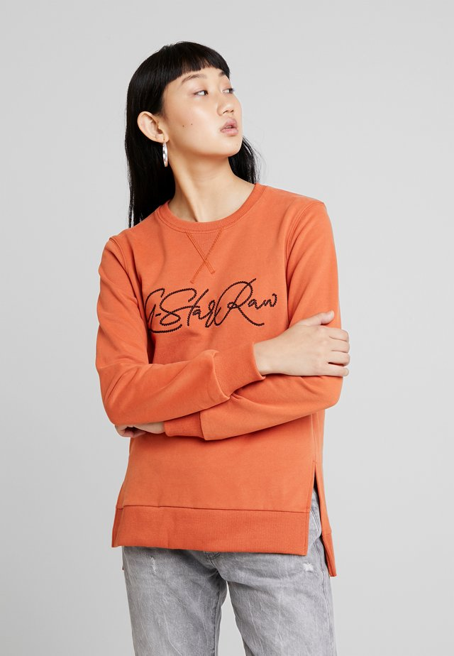 GRAPHIC BOYFRIEND SLIT - Sudadera - dusty royal orange