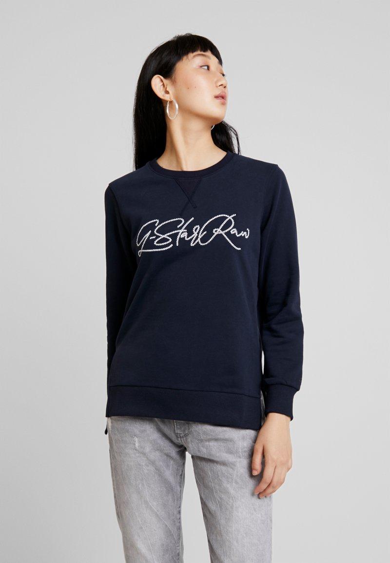 G-Star - GRAPHIC BOYFRIEND SLIT - Sweatshirt - mazarine blue
