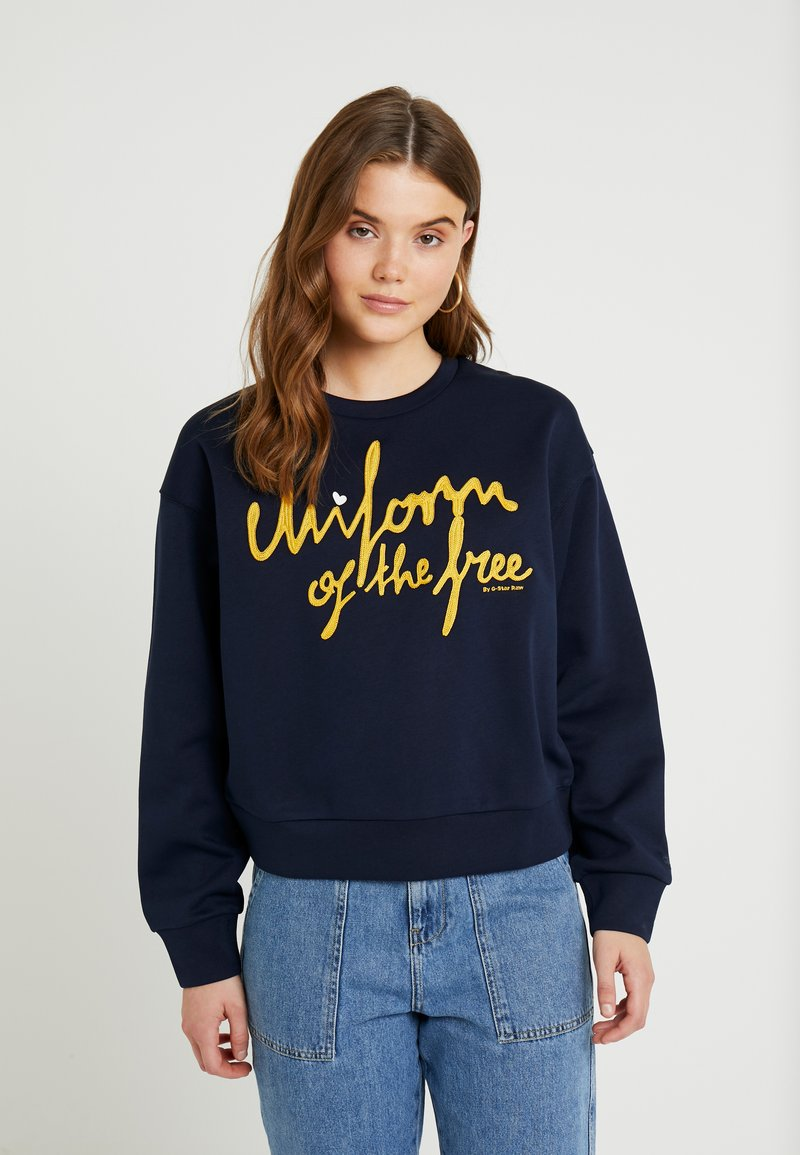 G-Star - GRAPHIC LOOSE - Sweater - sartho blue