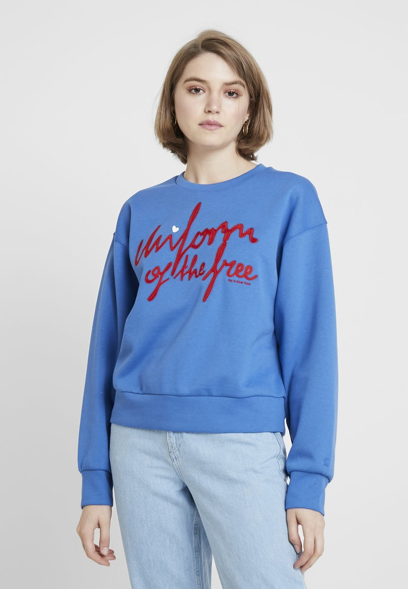 G-Star - GRAPHIC LOOSE - Mikina - chain blue