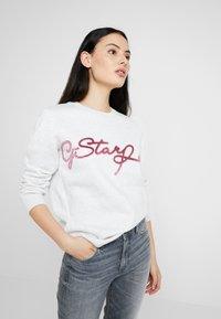 G-Star - GRAPHIC 4 BF R SW WMN L/S - Sweatshirt - white heather - 0