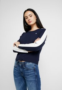 G-Star - NOSTELLE CROPPED - Sweatshirt - sartho blue/milk - 0