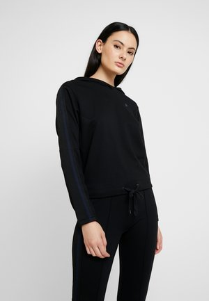 NOSTELLE CROPPED HDD SW WMN L\S - Sweat à capuche - dark black/sartho blue