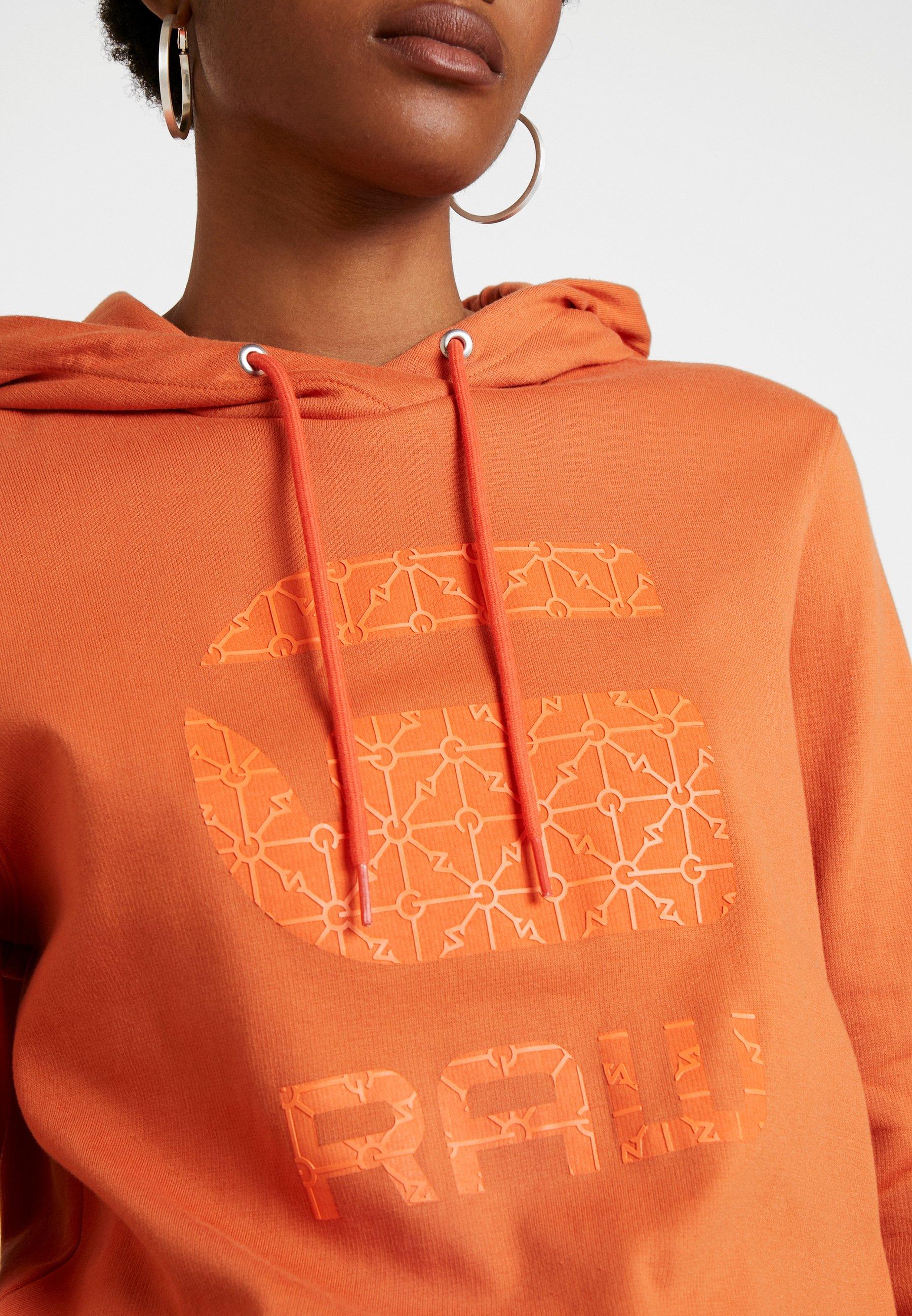G-Star BOYFRIEND TONE - Bluza z kapturem - dusty royal orange