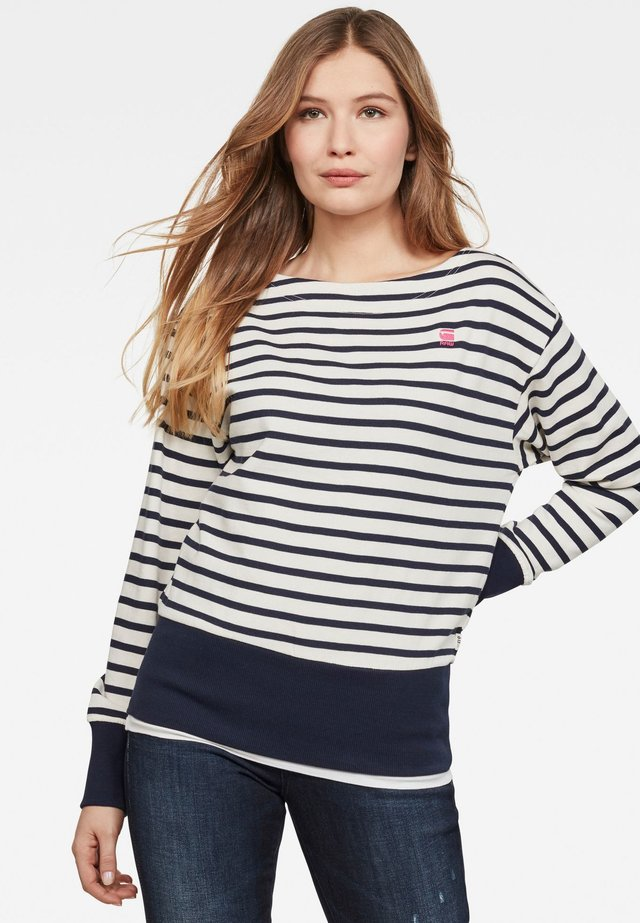 XZYPH YD STRIPE - Sweater - milk/sartho blue stripe