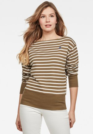 XZYPH YD STRIPE - Sweatshirt - smoke olive/milk stripe