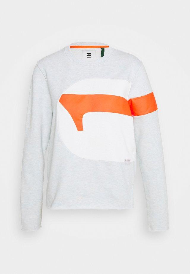 BF G-STRIPE SLIT R SW WMN L\S - Sweater - deep ice htr/orange neon