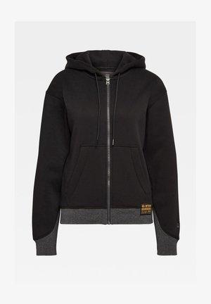 Zip-up hoodie - dk black