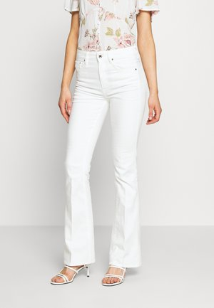 3301 HIGH FLARE - Flared jeans - white