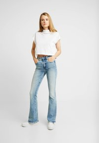G-Star - 3301 HIGH FLARE - Flared Jeans - sun faded blue - 1