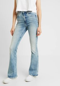 G-Star - 3301 HIGH FLARE - Flared Jeans - sun faded blue - 0