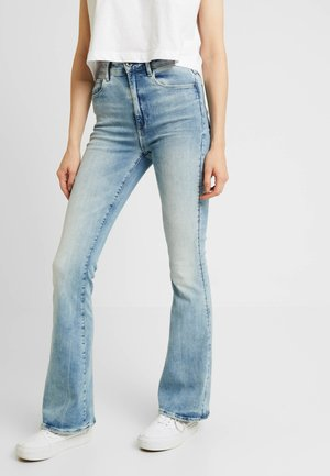 3301 HIGH FLARE - Jeans a zampa - sun faded blue