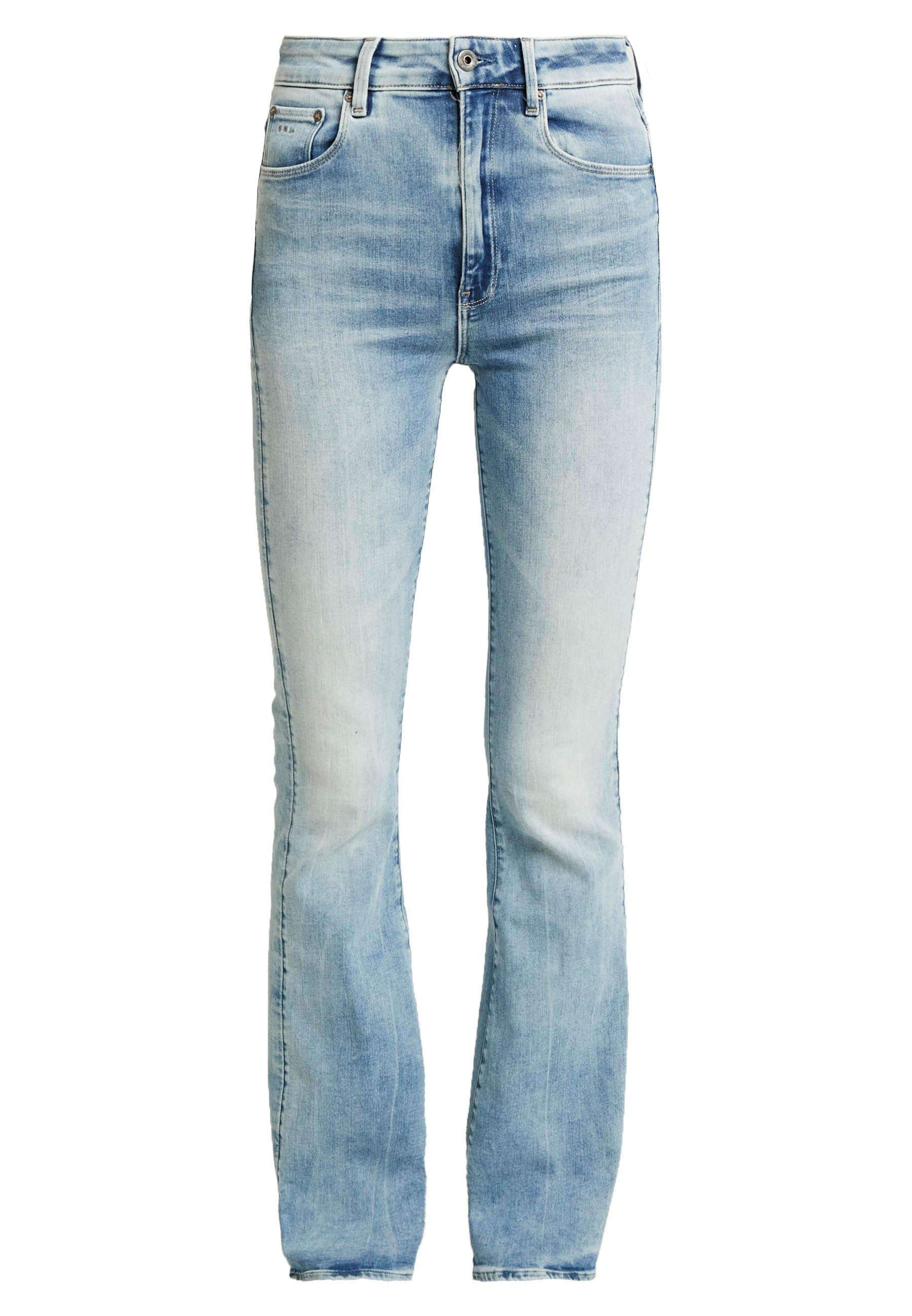 G-Star 3301 HIGH FLARE - Jeansy Dzwony - faded azure