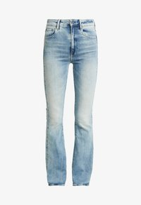 G-Star - 3301 HIGH FLARE - Flared Jeans - sun faded blue - 4