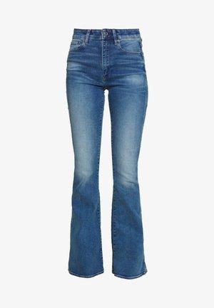 3301 HIGH FLARE - Široké džíny - faded azure
