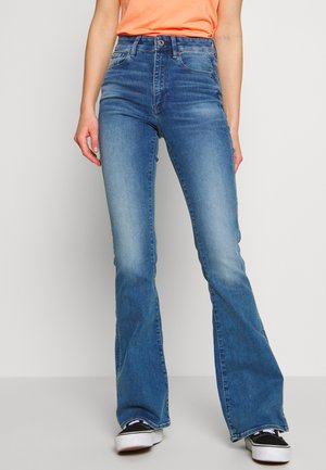 3301 HIGH FLARE - Flared jeans - faded azure