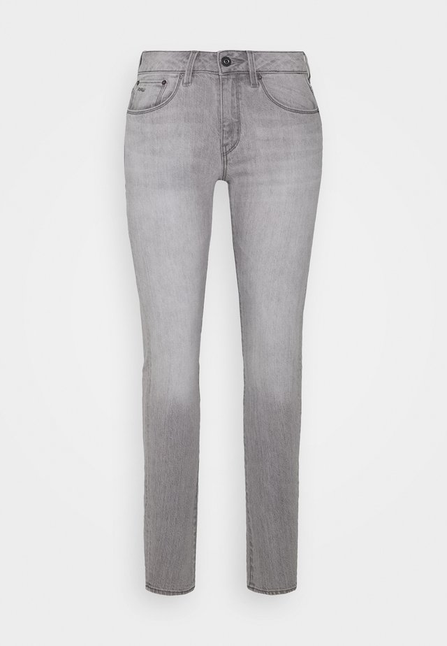 3301 MID SKINNY - Jeansy Skinny Fit - sun faded pewter grey