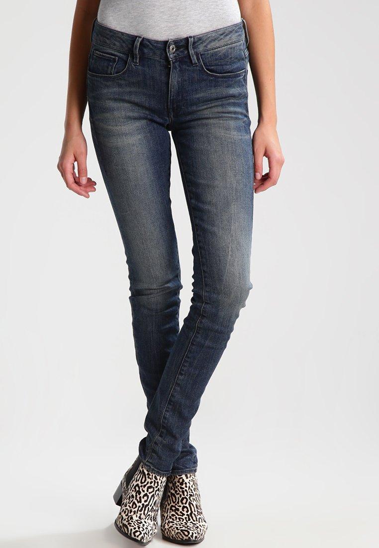G-Star - 3301 MID SKINNY WMN - Jeans Skinny Fit - cerro stretch denim