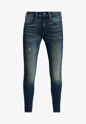 3301 MID SKINNY WMN - Jeans Skinny Fit - antic ocean destroyed
