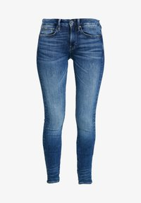 G-Star - 3301 MID SKINNY WMN - Skinny džíny - faded indigo destroyed - 4